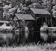 Mabry's Mill In IR by Carolyn  Fletcher