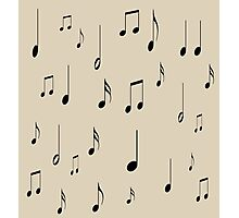 Musical notes on tan background Photographic Print