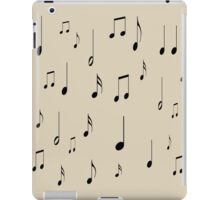 Musical notes on tan background iPad Case/Skin