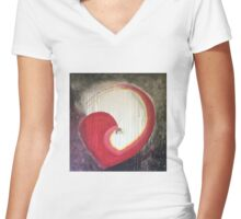 Unlock My Heart Women's Fitted V-Neck T-Shirt