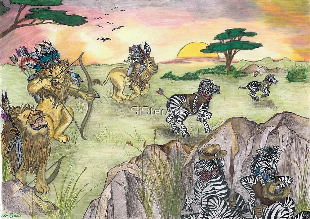 Cowboys on the savannah by SiSterArt
