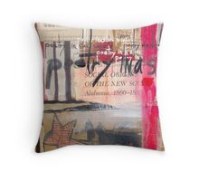 Poetry in a slave society Throw Pillow