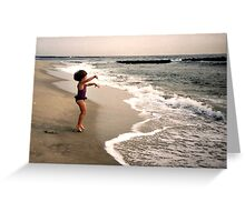 Leaping For Joy - Waves Come Get ME! Greeting Card
