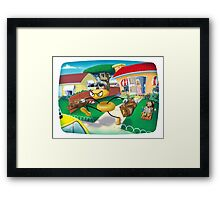Scene from a Cartoon Marriage Framed Print