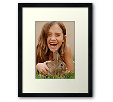 bunny delight Framed Print