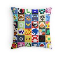 Nintendo Collage Throw Pillow