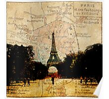 Paris on the Map Poster