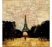 Paris on the Map Photographic Print