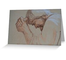 A Man Of Sorrows And Acquainted With Grief - Jesus Praying Greeting Card