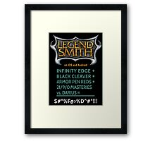 LegendSmith Calculating Darius Framed Print