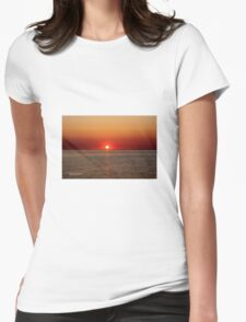 Beautiful Late sunset in Sweden  Womens Fitted T-Shirt