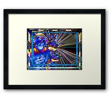 Lucy Loves Buddha Electric Framed Print