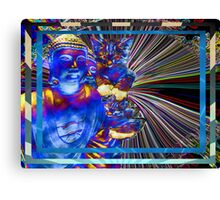 Lucy Loves Buddha Electric Canvas Print