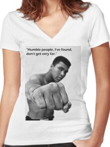 Cassius Clay Women's Fitted V-Neck T-Shirt
