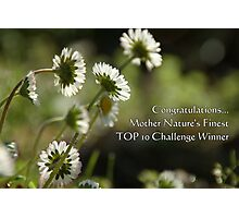 TOP 10 Challenge Winner Banner for Mother Nature's Finest! Photographic Print