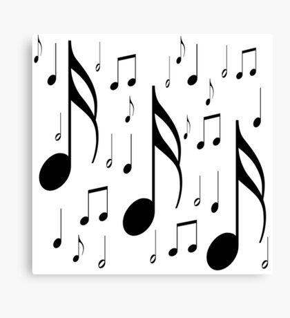 Musical notes on white background Canvas Print