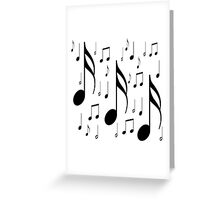 Musical notes on white background Greeting Card
