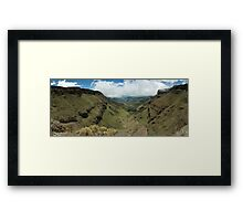 Sani Pass South Africa Framed Print