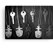 Doctor who TARDIS keys Metal Print