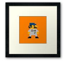 Video Game Baseball Player Framed Print