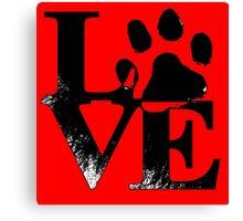 Love paw Canvas Print