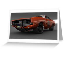 General Lee Car Dukes of Hazzard 2969 Dodge Charger Greeting Card
