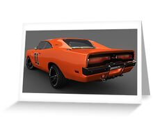 General Lee Car Dukes of Hazzard 2969 Dodge Charger Rear Greeting Card