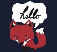 The Fox Says Hello Kids Tee