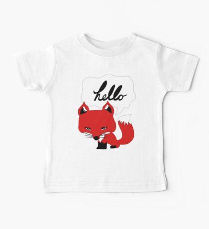 The Fox Says Hello Baby Tee