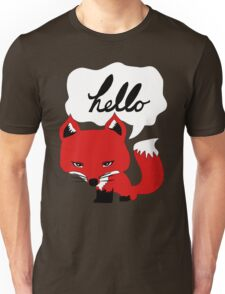 The Fox Says Hello Unisex T-Shirt