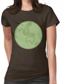 globe in green Womens Fitted T-Shirt