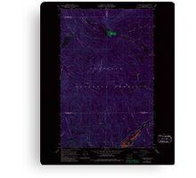 USGS Topo Map Washington State WA Aladdin Mtn 239768 1967 24000 Inverted Canvas Print