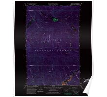 USGS Topo Map Washington State WA Aladdin Mtn 239768 1967 24000 Inverted Poster