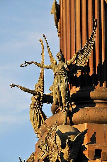 Pedestal detail, Columbus monument. Barcelona by buttonpresser