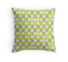 Mint triangle Throw Pillow