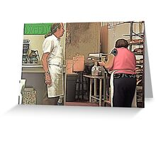 The Bakery Couple Greeting Card