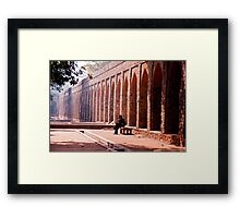 Arches Under Repair Framed Print