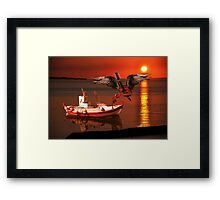 While My Guitar Gently Weeps Framed Print