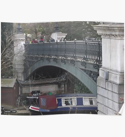 Regents Park Canal Bridge -(190212)- digital photo Poster