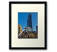 Eureka Tower, Yarra River Footbridge, Melbourne. Framed Print