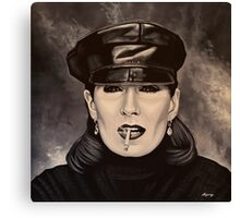 Anjelica Huston painting Canvas Print