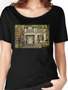 Red Brick House in Autumn Women's Relaxed Fit T-Shirt