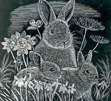 Spring Bunnies  by Woodie