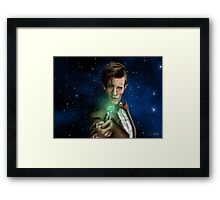 11th Doctor Caricature  Framed Print
