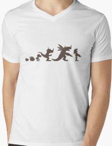 The Evolution of Monsters 1 (Light Version) Mens V-Neck T-Shirt