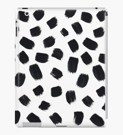 Hand Painted Brush Polka Dot Texture iPad Case/Skin