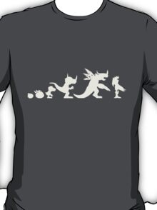 The Evolution of Monsters 1 (Dark Version) T-Shirt