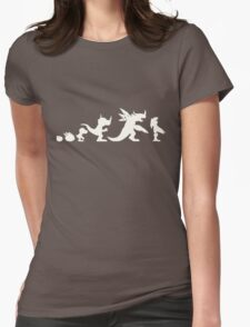 The Evolution of Monsters 1 (Dark Version) Womens Fitted T-Shirt