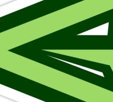 green arrow logo Sticker