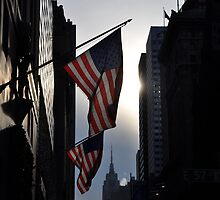 Flags on 57th Street by CaraH
